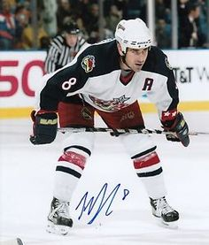 Geoff Sanderson Columbus Blue Jackets autographed Photograph signed in blue  sharpie. ae3fa3e2b