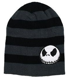 ecac258deec Amazon.com  Nightmare Before Christmas Jack Slouchy Beanie Hat  Clothing