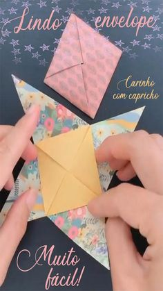 Origami And Kirigami, Paper Crafts Origami, Origami Art, Diy Crafts Hacks, Diy Crafts For Gifts, Creative Crafts, Origami Flowers Tutorial, Paper Shaper, Origami Techniques