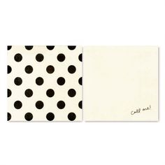 Liven up your cocktail hour or party with charming and witty Kate Spade New York napkins! 40 paper napkins 20 Each of 2 Designs Folded Size of Napkin 12 cms Black dots and call me designs Beverage Napkins, Cocktail Napkins, Black Dots, Black And White, Color Black, New York Papers, Kate Spade Gifts, Divorce Party, Party Pops