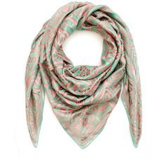 Liberty London Green Ianthe Devore Satin Lurex Scarf ($575) ❤ liked on Polyvore featuring accessories, scarves, square scarves, green shawl, woven scarves, holiday scarves and satin scarves