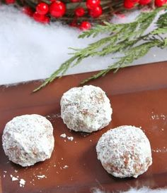 Rumchata Balls - quick, easy, and no bake!