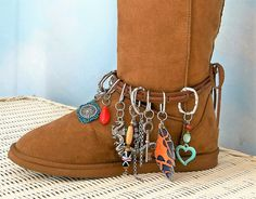 Boot bracelet boot jewelry bohemian boot wrap by CalCoastCreations Bohemian Boots, Bohemian Jewelry, Unique Jewelry, Boot Bracelet, Bracelets, Boot Jewelry, African, Memories, Trending Outfits