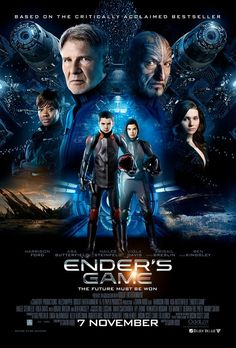 Ender's Game (2013) I really wanna see this. SO EXCITED!!  Review: 02/03/14 So I finally watched it and I really enjoyed I just didn't like how it ended with a huge cliffhanger but there are more books in the series so I hope they make a sequel. I give it a 3/5.
