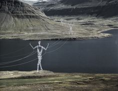 Iceland Electrical Towers Get Turned Into 'Giants' - DesignTAXI.com