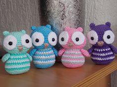 Renate's hooks thus: Baby owls Crochet Animal Amigurumi, Crochet Baby Toys, Crochet Owls, Love Crochet, Crochet For Kids, Amigurumi Patterns, Crochet Animals, Diy Crochet, Art Japonais