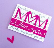 I Love you Mom Card - JGoode Designs