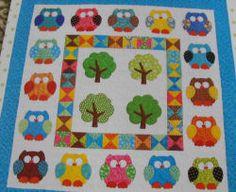 Kids Quilts  - Hooterville Owl Quilt Kit