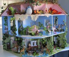 FINISHED FAIRY DOLLHOUSE INSIDE by Art Dolls of Kaerie Faerie, via Flickr