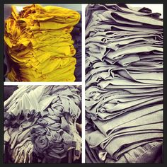 Stacks on stacks on piles on stacks #fashion #apparel #printing #superiorink #superiorink