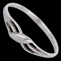 Silver ring, wavy line Silver ring, Ag 925/1000 - sterling silver. Gentle wavy line. Favourite design. Width at the place of pattern approx. 4mm.