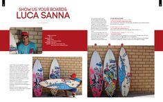 4SURF magazine - n°63 - SHOW US YOUR BOARDS: Luca Sanna - Testo e foto Andrea Bianchi - pag. 32 - 33