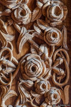 Small Rose, Earth Tones, Textures Patterns, Carving Wood, Flowers, Roses, Crafts, Ornaments, Lace