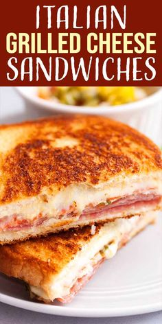 Gourmet Sandwiches, Sandwich Bar, Party Sandwiches, Grill Cheese Sandwich Recipes, Grilled Cheese Recipes, Grilled Sandwich, Meat Recipes, Cooking Recipes, Grilled Cheeses