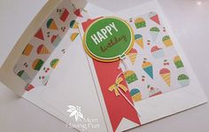 Handmade Birthday Card: Stampin Up Happy by JodiStampinCreations