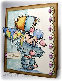 """""""Winter Fairy"""" - a card with a stamped image from Penny Black by JammySage, via Flickr"""