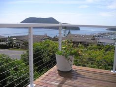 Deck Cable Railing - The Cable Connection by Ultra-tec Cable Railing Wire Balustrade, Balustrades, Outdoor Stairs, Outdoor Rooms, Outdoor Ideas, Wire Deck Railing, Porch Railings, Rope Fence, Home Fencing