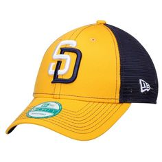 Men s San Diego Padres New Era Gold Navy Bold Mesher 9FORTY Adjustable Hat fbe5ca2b1524