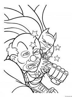 Printable Superheros Batman And Joker Coloring Page