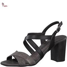 Tamaris , Sandales pour femme - noir - BLK/PEWTER MET, - Chaussures tamaris (*Partner-Link)