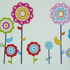 lollipop flower decals £8.49 - to decorate my wardrobe?