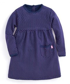 Take a look at this Navy & Fuchsia Polka Dot A-Line Dress - Infant, Toddler & Girls today!