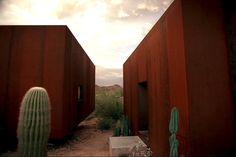 Arizona's Rusted Steel Desert Nomad House is Surrounded by Towering Saguaro Cacti Desert Nomad House by Rick Joy – Inhabitat - Green Design, Innovation, Architecture, Green Building