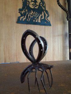 Texas mosquito horseshoe --nails