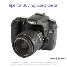Great Tips for Buying Used Photography Gear {via I Heart Faces and KEH Camera}  www.iheartfaces.com