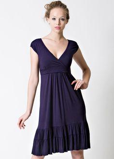 Dote - 9th Street Nursing Dress in Navy - Stylish cap sleeve dress in everyday navy blue