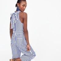 Shop J.Crew for the Striped halter jumpsuit for Women. Find the best selection of Women Dresses available in-stores and online. Jumpsuits For Sale, Jumpsuits For Girls, Halter Jumpsuit, Striped Jumpsuit, Short Jumpsuit, White Jumpsuit, Denim Playsuit, White Romper, Floral Jumpsuit