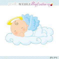Baby Girl Angel on Cloud