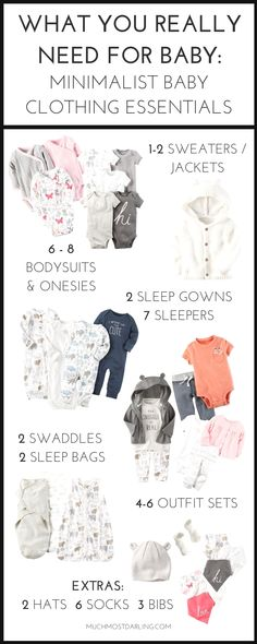 How many baby clothes do I need? My minimalist baby clothing essentials. Wondering how many baby clothes you need for each size? Come see my first year essentials for a minimalist capsule wardrobe for your baby at Carter's. free new baby checklist Outfit Essentials, Newborn Essentials, Newborn Clothes Checklist, New Baby Checklist, Minimalist Baby, Minimalist Wardrobe, Trendy Baby Clothes, Baby Supplies, Baby Outfits Newborn