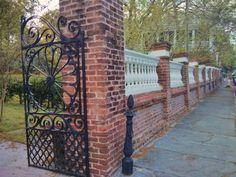 Charleston, SC is full of amazing iron gates and masonry walls guarding beautiful houses.