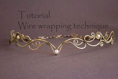 Wire Wrap Tutorial Tiara tutorial Wire Wrapped by StasyaWireWrap