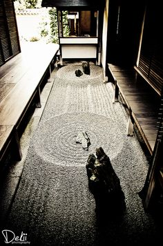 Karesansui or Japanese Rock Garden, Kyoto, Japan Kyoto Japan, Culture Art, Japan Garden, Style Japonais, Japanese Architecture, Japanese House, Japan Art, Japanese Design, Wabi Sabi