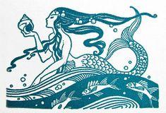 A Lawson: La Sirena Marie from The Enchanted Castle 1935 Mermaid Illustration, Art And Illustration, Vintage Mermaid, Mermaid Art, Mermaid Paintings, Mythical Creatures, Sea Creatures, Tattoos Mandala, Mermaids And Mermen