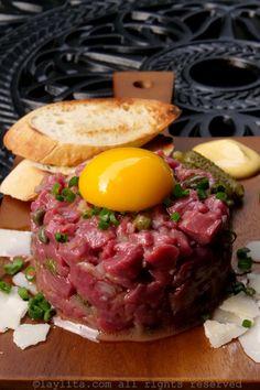 Carpaccio Recipe, Tartare Recipe, Ceviche, Beef Recipes, Cooking Recipes, Healthy Recipes, Tapas, Corned Beef Brisket, Salty Foods