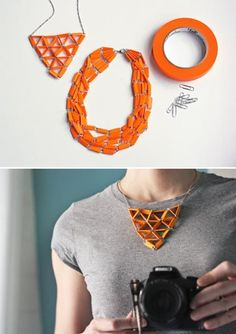 Statement Necklace | Creative Ways to Personalize with Washi Tape