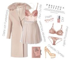 """""""Pretty Little Lady 💋"""" by xofashionismylovexo ❤ liked on Polyvore featuring Diane Von Furstenberg, Fleur du Mal, Alexander McQueen, Olympia Le-Tan, Charlotte Olympia, Made, Agent Provocateur, L'Agent By Agent Provocateur, Prism and Christian Dior"""