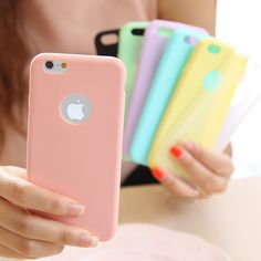 Solid Candy Color Matte Skin Case for iPhone 6S TPU Rubber Soft Back Cover for iPhone 6 6S Silicone 4.7 inch 8 Colors-in Phone Bags & Cases from Phones & Telecommunications on Aliexpress.com | Alibaba Group