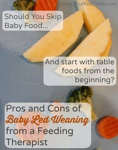 Is baby led weaning right for you and your baby? Learn the pros and cons of Baby Led Weaning from an occupational therapist and three time mom.