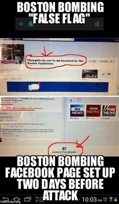 Boston bombing facebook page went up two days before the attack