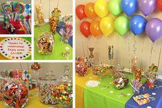 Rainbow Candy Buffet
