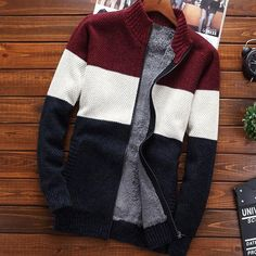 MSA Signature Men sweater cardigan zipper new winter male loose plus velvet thick stand collar casual thermal sweater Model Outfits, Swag Outfits, Sweater Outfits, Men Sweater, Mens Clothing Styles, Clothing Items, Maggi, Mens Fashion Sweaters, England Fashion