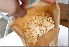 Microwave Air Popped Popcorn in Paper Bag   SUPER DUPER CHEAP & NO OIL!