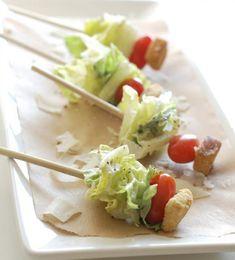 Roquefort salad skewers