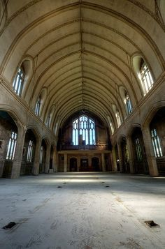 abandoned neighborhoods in the us | Abandoned St. Agnes Catholic Church in the Boston-Edison neighborhood ...
