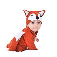 Lil' fox baby and toddler costume with hat   hardtofind.