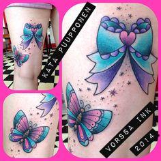 https://www.facebook.com/VorssaInk, http://tattoosbykata.blogspot.fi, #tattoo #tatuointi #katapuupponen #vorssaink #forssa #finland #traditionaltattoo #suomi #oldschool #pinup #bow